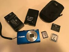Canon PowerShot A4000IS 16MP 8x Digital Camera w 2Chargers 3 batteries 16GB card