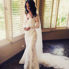 Vintage Lace Wedding Dresses Long Mermaid Appliques Bridal Gowns Custom Made