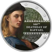 2 Euro Gedenkmünze mit Raffael coloriert / Farbe / Farbmünze Italien / San Marin
