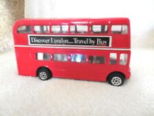 London Marble Arch Red Double Decker British Tour Bus Diecast Metal & Plastic