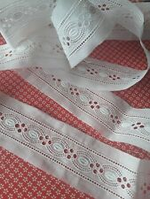 bande broderie anglaise tres ancienne1mx4,5cm@