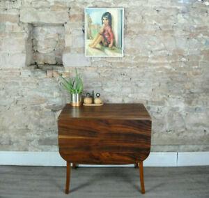 Vintage mid century art deco 40s/50s solid walnut drop leaf dining table DELIVER