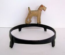 Vintage Cast Iron Fox Terrier Dog Dish Bowl Stand