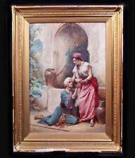 JEAN LEON GEROME JLG FERRIS ORIENTALIST ANTIQUE OIL PAINTING (Listed Artist)