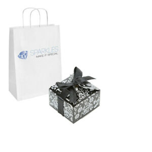 10 Black Silver Small Ribbon Wedding Favor Gift Boxes Party Event Candy Box