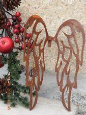 Edelrost Flügel zum einhacken Muster Weihnachten Advent Dekoration Metall Garten