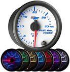 GlowShift White 7 Color PSI Fuel Rail Pressure Gauge GS-W719