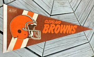 "Vintage 29"" Cleveland Browns Pennant Felt Bright Color Rare"