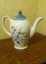 Stylish vintage Wood & sons floral tea pot made in England (a52)