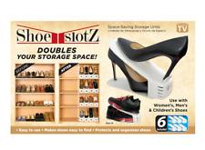 Shoe Slotz Space Saver, 6 piece set. NEW 100% Authentic