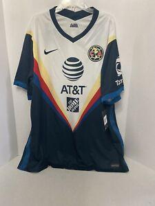 Nike Club America Away 2020/2021 Stadium Soccer Jersey Sz 2XL CD4227-454 Aguilas