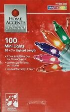 HOME ACCENTS 100ct MULTI COLOR Lights Christmas multicolored holiday green wire