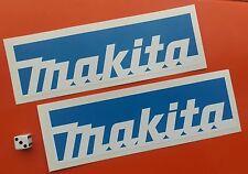 x 2 blue MAKITA STICKERS 200MM X 60MM TOOL BOXES,CARS,VANS.GARAGE