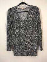 Micheal Micheal Kors Top Women Size Small Animal Print V Neck Blouse