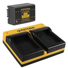 Akku + Dual-Ladegerät für Panasonic Lumix DMC-FZ100 / DMC-FZ150 - DMW-BMB9-E