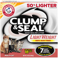 Arm And Hammer Clump And Seal Lightweight Cat Litter, Multi-Cat 9 Lb