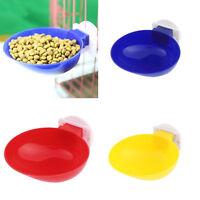 Pet Dog Cat Dinner Food Water Cage Plastic Hanging Feeder Feeding Hot SH