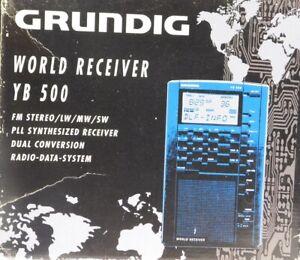 GRUNDIG YACHTBOY YB500 ovp mit Karton und Papieren, wie neu, Weltempfänger