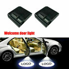 2 X LED Logo Welcome Projector Car Door Lights Shadow Puddle Courtesy Laser Lamp