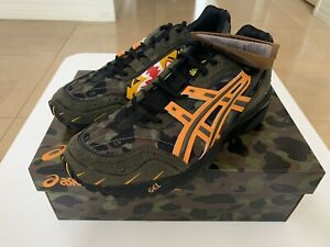AUTHENTIC A BATHING APE BAPE x ASICS GEL-1090 SNEAKERS US 8 GREEN NEW