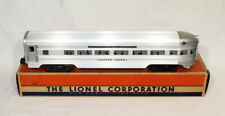 Postwar Lionel 2531 Silver Dawn Observation Car~Late Flat Channels~w/Nice OB