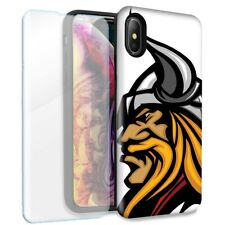 Viking Double Layer Case Glass Screen For Apple iPhone XS Max