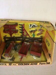 Ertl Golden Acre Farm Set 15 Piece 1 /32 Scale In Original Packaging # 5038  IH