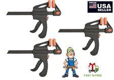 "Set of 3 30"" Nylon Ratchet Bar Clamp Spreader Heavy Duty Woodworking Wood Carpe"