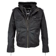 Abrigos y chaquetas de hombre moteras negros de poliéster