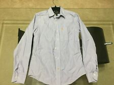 ABERCROMBIE mens DRESS SHIRT small PURPLE STRIPED long sleeve MUSCLE FIT fitted