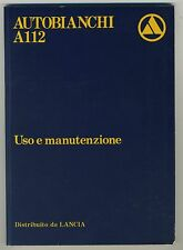 (36B) AUTOBIANCHI A112 (LANCIA) uso e manutenzione
