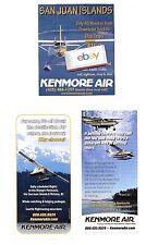 KENMORE AIR (3) AD'S TURBO OTTER-BEAVER-CARAVAN SAN JUAN ISLANDS-SEATTLE