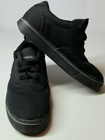 Heelys Launch Skate Shoes Wheeled Sneakers Black Canvas 770155H Youth Size 6