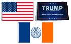 3x5 Trump #1 & USA American & City of New York Wholesale Set Flag 3'x5'