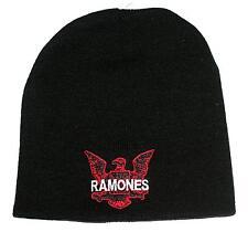 RAMONES 1970's Punk Rock Band EAGLE LOGO Unisex Men Women BEANIE CAP HAT O/S New
