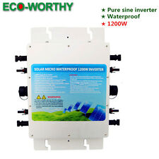 1200W 1.2KW Waterproof Grid Tie Inverter MPPT Function MC4 Quick Connector