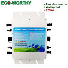 1.2KW 1200W waterproof grid tie inverter MPPT function MC4 quick connector 230V