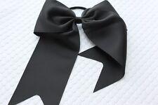 Black cheer bow girl hair  pony cheerleading big cheap Texas size US seller