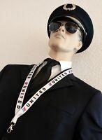 Lanyard UNITED AIRLINES -TULIP- Saul Bass Logo keychain neckstrap LANYARD