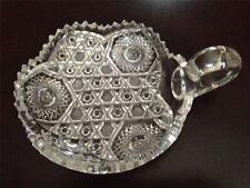 Cut Glass Handled Nappy Dish Pre-Owned