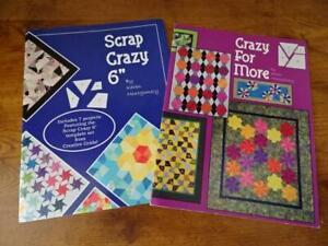 "Lot 2 Quilt books-Karen Montgomery-Scrap Crazy-Scrap Crazy 6"" & Crazy For More"