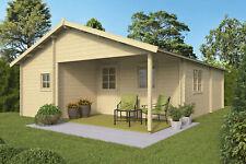 44mm Gartenhaus ISO 595x808 cm Holz Holzhaus Blockhaus Schuppen Hütte 4 Räume