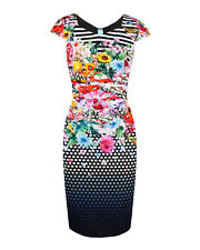"Anthea Crawford ""Floral Note"" Jersey Dress 