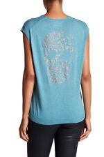 Zadig & Voltaire Mark Embellished Shirt Sweater color TURQUOISE Size M NEW