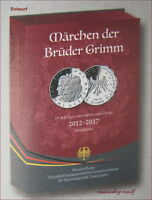 """Gedenkmünzenset 2012-2017 PP Silber im Münzsammelbuch """"Grimms Märchen"""" - VVK"""