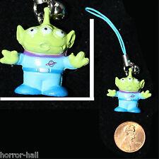 Mini Charm Figure-TOY STORY ALIEN CELL PHONE STRAP-Stocking Stuffer Fun Ornament