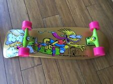 Matt Groening Signed Skateboard Simpsons Gold Limited Edition
