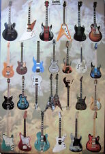 GUITAR COLLECTION POSTER FROM ASIA: Gibson, Ibanez, Yamaha, Rickenbecker, Fender