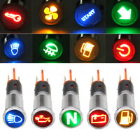 12V 8mm Car Symbol LED Dash Panel Warning Pilot Light Bulb Indicator Lamp
