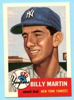 1953 Topps Archives #86 Billy Martin - New York Yankees